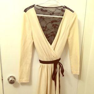 Diane von Fursternburg Creme wrap dress